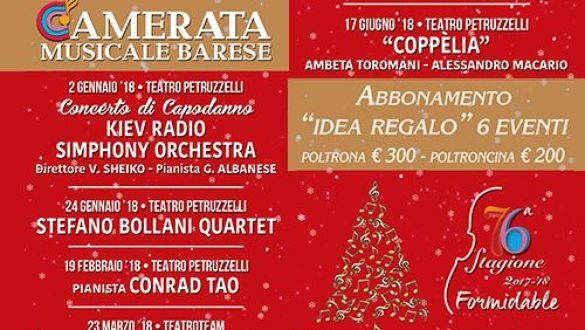ABBONAMENTO IDEA REGALO (6 SPETTACOLI) Kiev Simphony Orchestra-S. Bollani Quartet-Conrad Tao-Kataklò Dance Theatre-Ballet Flamenco Espanol-Coppelia