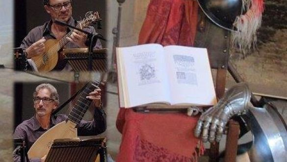 ENSEMBLE TERRA D' OTRANTO - Fabrizio Saccomanno (Voce recitante)- Luca Tarantino (Chitarra spagnola) - Pierluigi Ostuni (Tiorba) - Doriano Longo (Violino barocco) - Roberto Chiga (percussioni) - Nadia Esposito (disegni sul Don Quixote)
